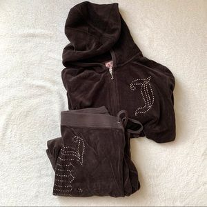 JUICY COUTURE VELOUR TRACKSUIT (BROWN)